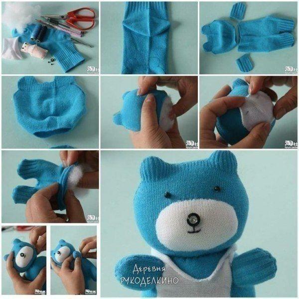 Веселые игрушки из носков
