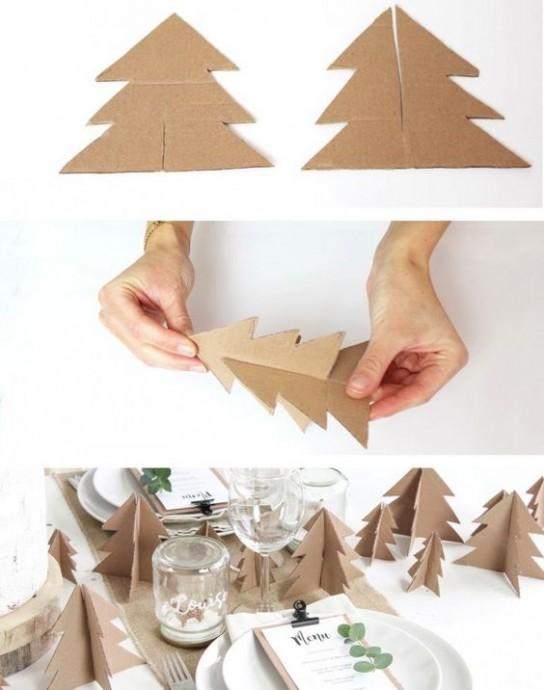 Ёлочки 3D детскими руками