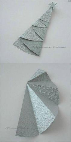 Ёлочки оригами