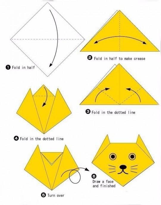 Как сложить оригами и получить 10 зверушек