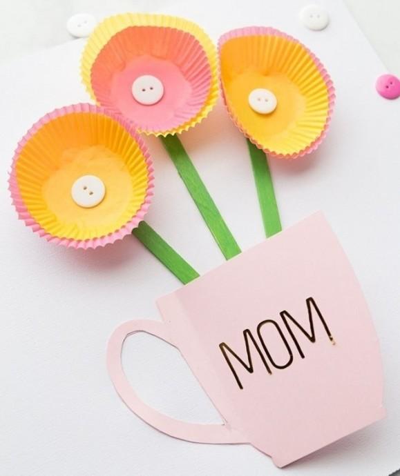 Простые поделки для малышей из формочек для кексов
