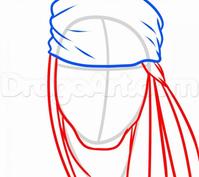 Урок рисования: пират Джек Воробей 3