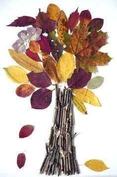 Вариации создания деревьев из опавшей листвы