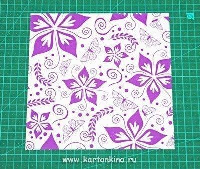 Коробочка для подарка другу в технике оригами