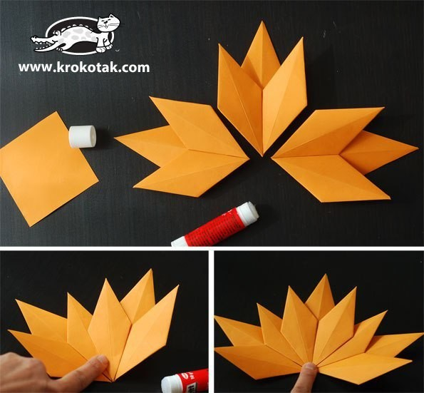 Кленовый лист из бумаги