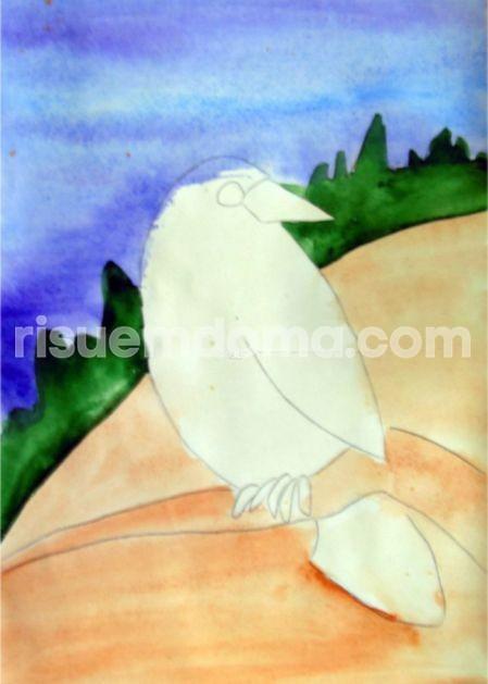 Рисуем с детьми ворону