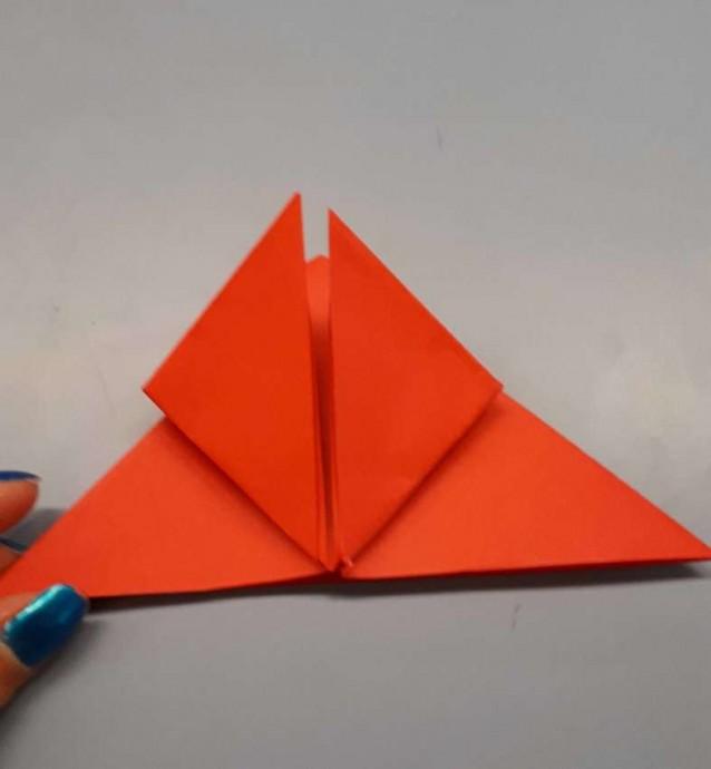 Чудесный цветок оригами 5