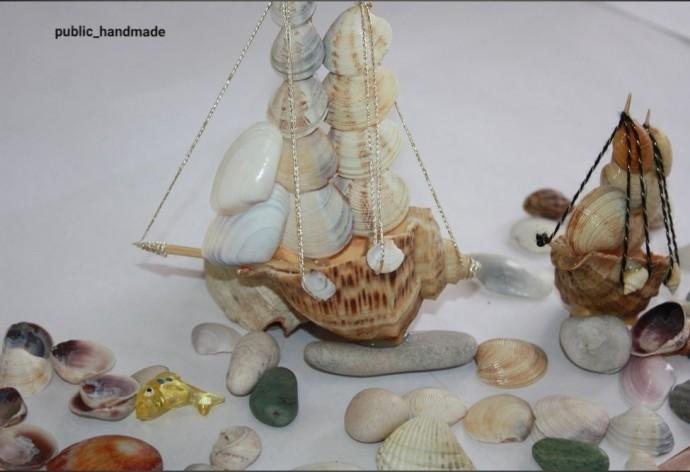 Кораблик из морских ракушек 9