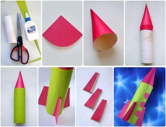 Ракеты из втулок от бумаги