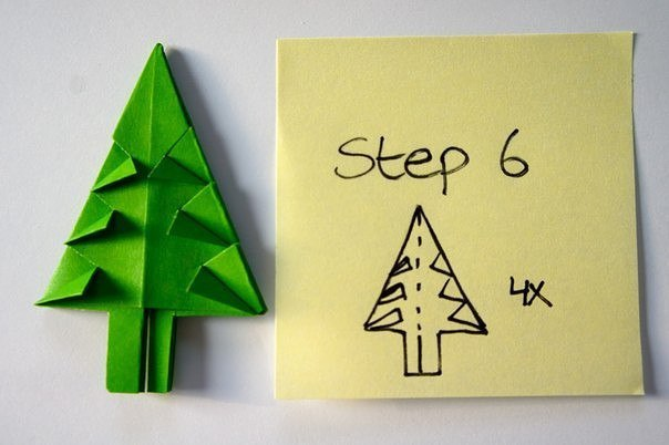 Бумажная елочка-оригами 6