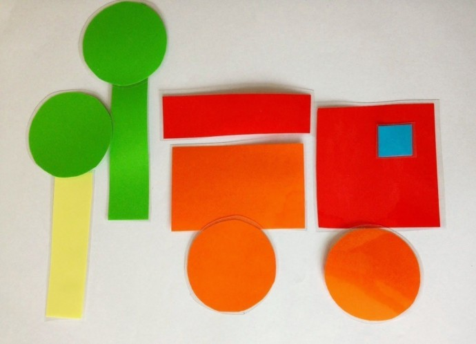 Идеи аппликаций из геометрических фигур