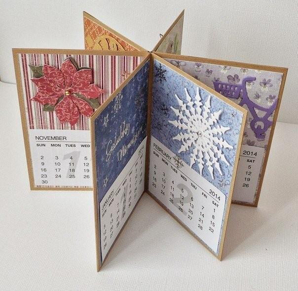 Идея для скрап-календаря или настольного мини-альбомчика