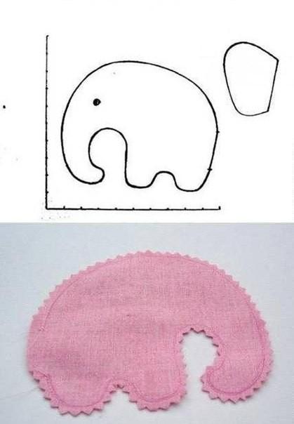 Шьем слонёнка