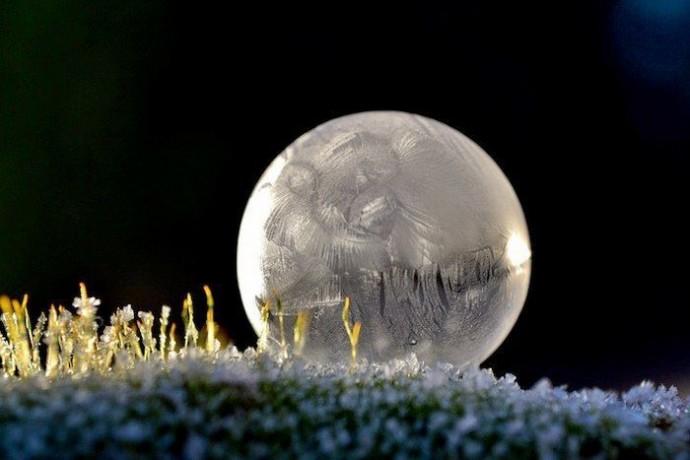 Замерзшие мыльные пузыри 4