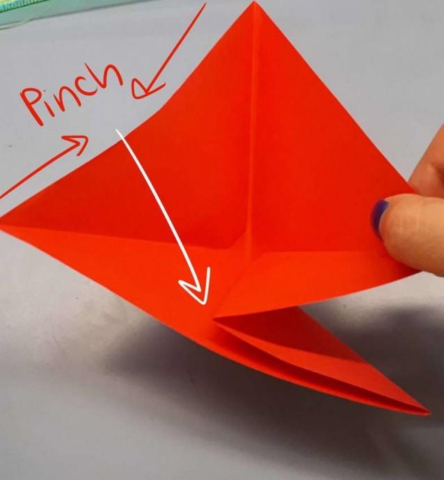 Чудесный цветок оригами 3