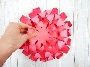 Хризантемы из бумаги 7