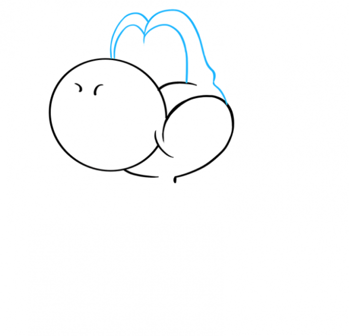 Рисуем забавного динозаврика