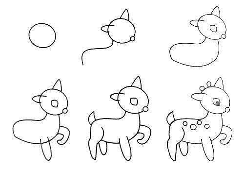 10 примеров, как нарисовать зверей поэтапно 9