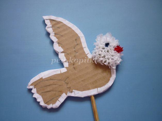 Оригинальный вариант создания пушистых голубей