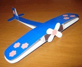 Поделка в виде самолетика