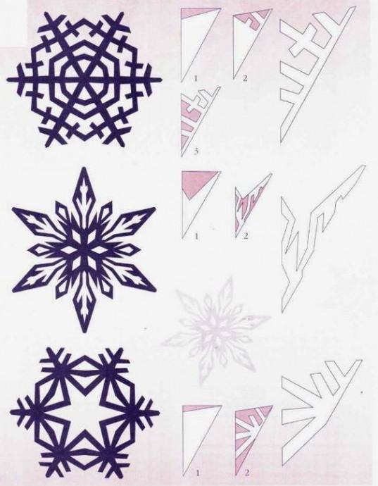 Схемы головокружительных снежинок 6