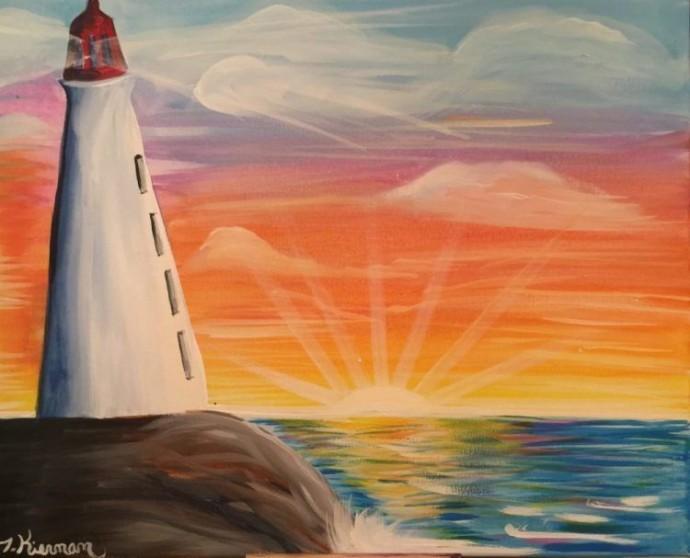 Рисуем с детьми маяк