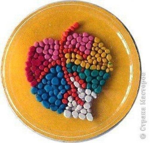 Картины из шариков пластилина