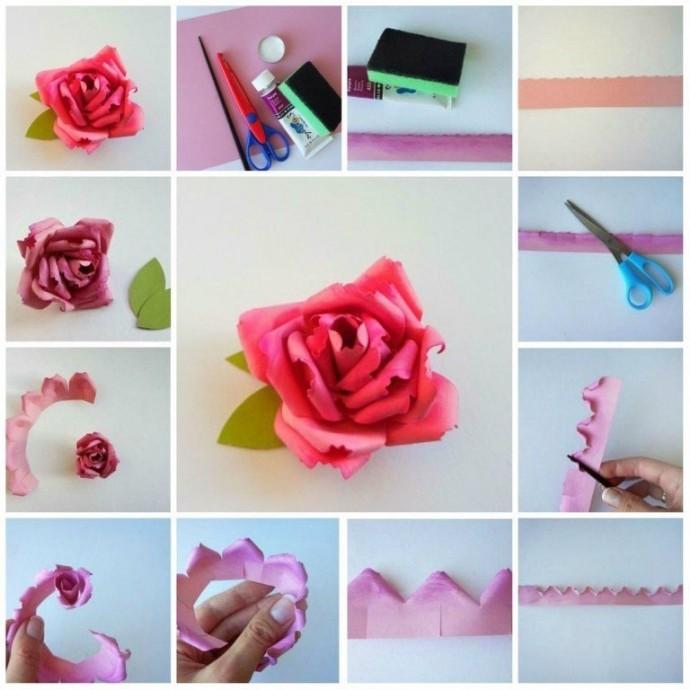 Красивая роза из бумаги