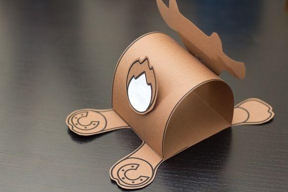 Объемный бычок из бумаги