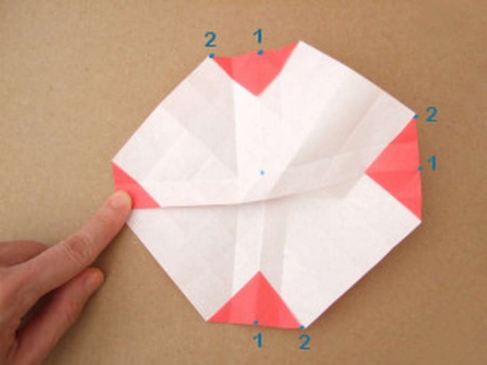 Делаем розу оригами 3
