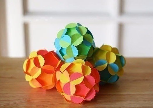 Шары из бумаги для декора