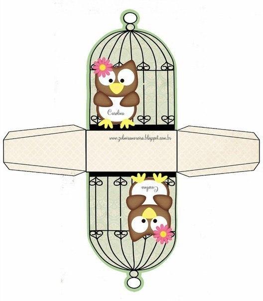 Коробочки с совушками