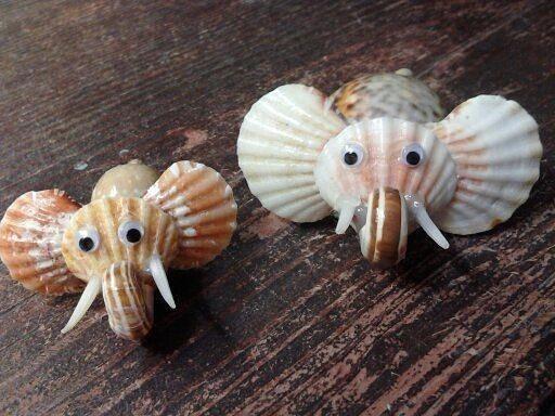 Поделки с детьми из морских ракушек