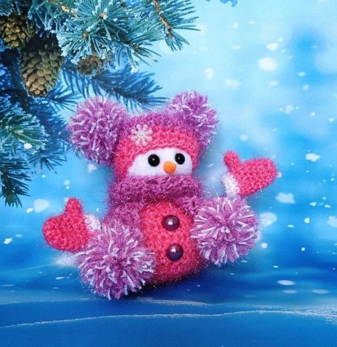 Вяжем снеговичков