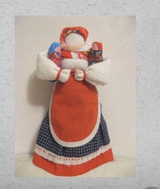 Делаем с детьми куклу столбушку мамочку