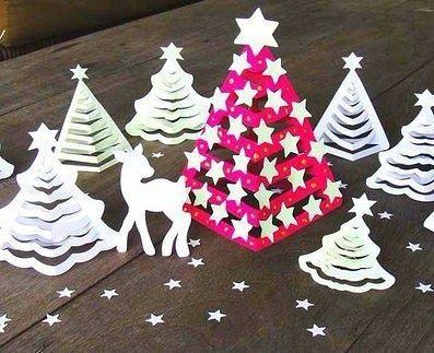 3D-ёлочки из бумаги 5
