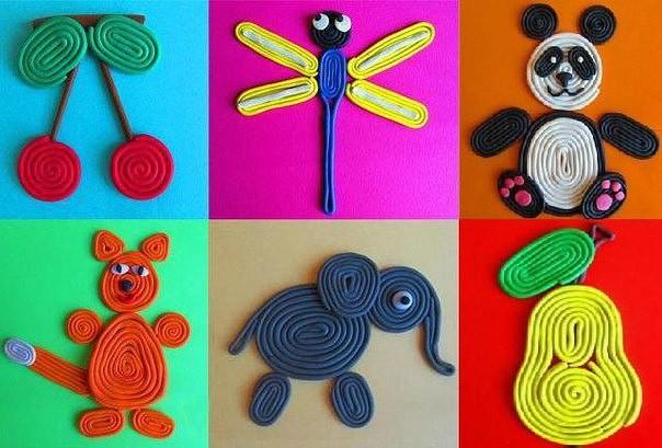 Идеи создания рисунков из пластилина