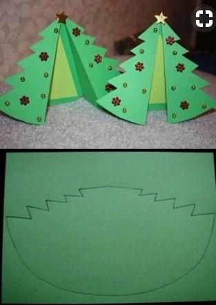 Легкая открытка с елочкой