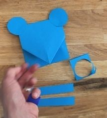 Мышки с сыром из цветной бумаги