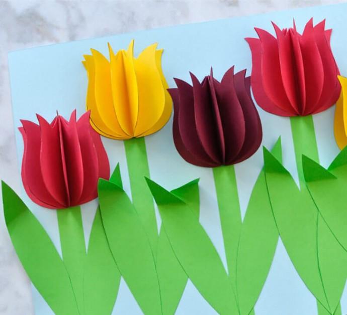 Открытки тюльпаны своими руками, доброй