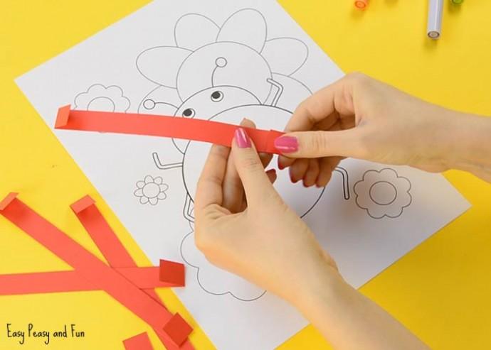Объединяем объемную аппликацию и рисунок