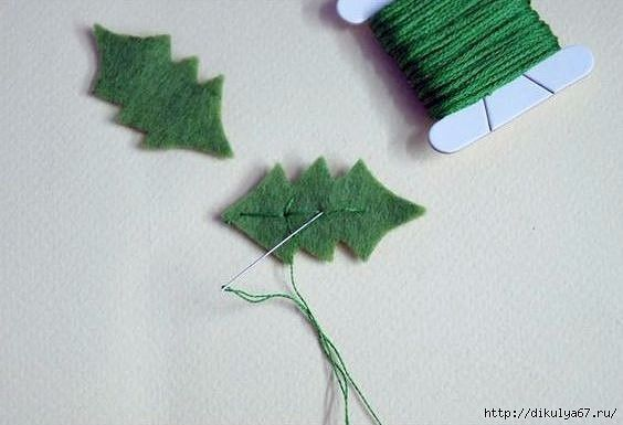Фетровые подвески на елку