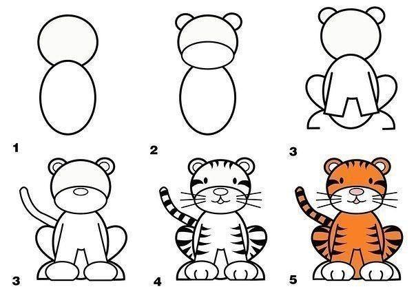 Рисуем с детками разных животных