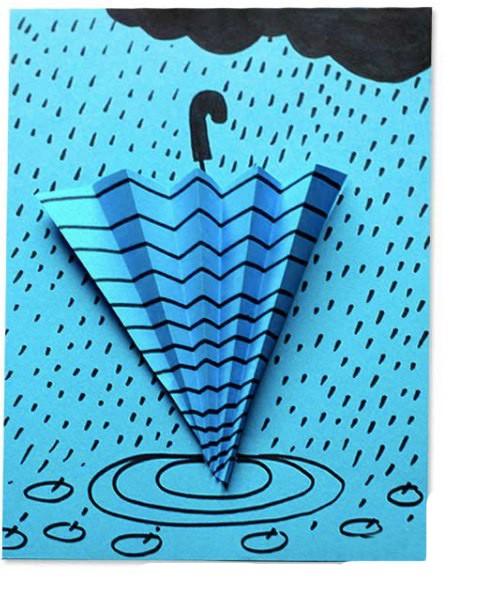 Объёмный зонт