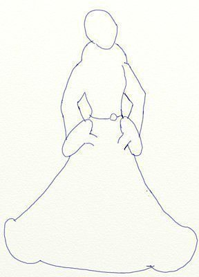 Рисуем Снегурочку 3