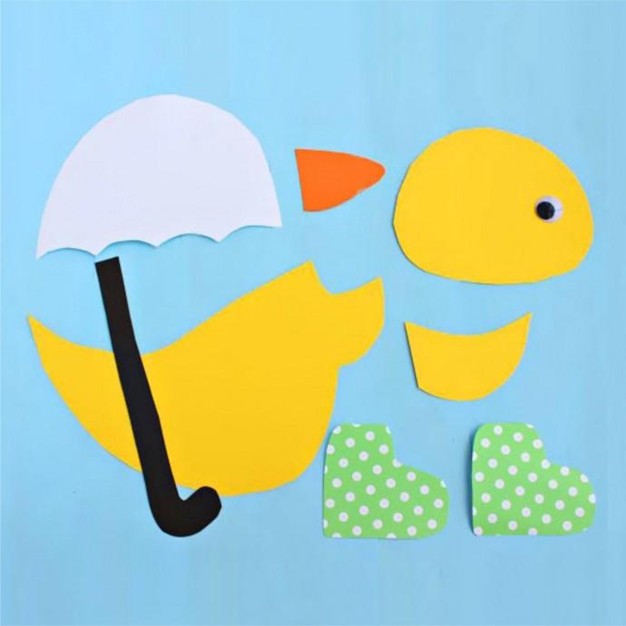 Утенок под зонтом
