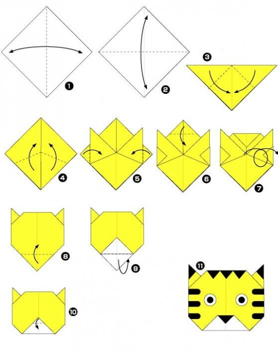 Животные оригами