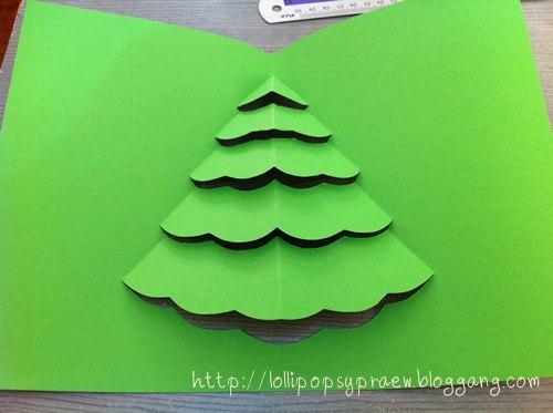 Новогодняя открытка, которую сделают и малыши 4