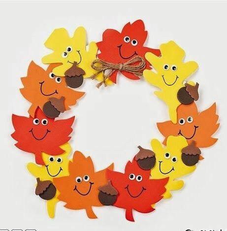 Веселое творчество из листьев
