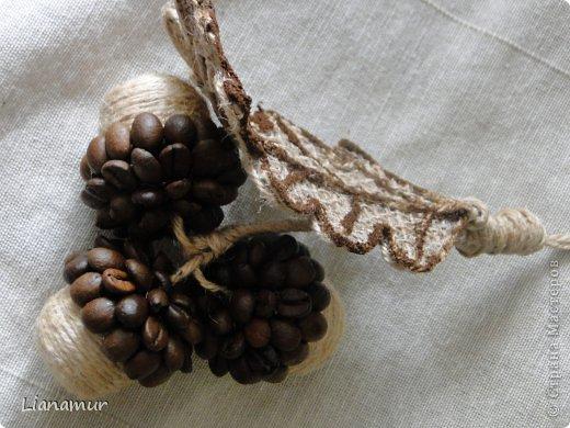 Декоративные кофейные желуди: мастер-класс